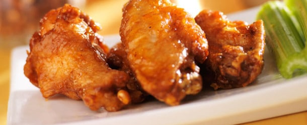 BBQ Chicken wings from Omega Pizza