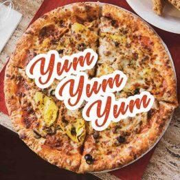 yum yum yum pizza banner