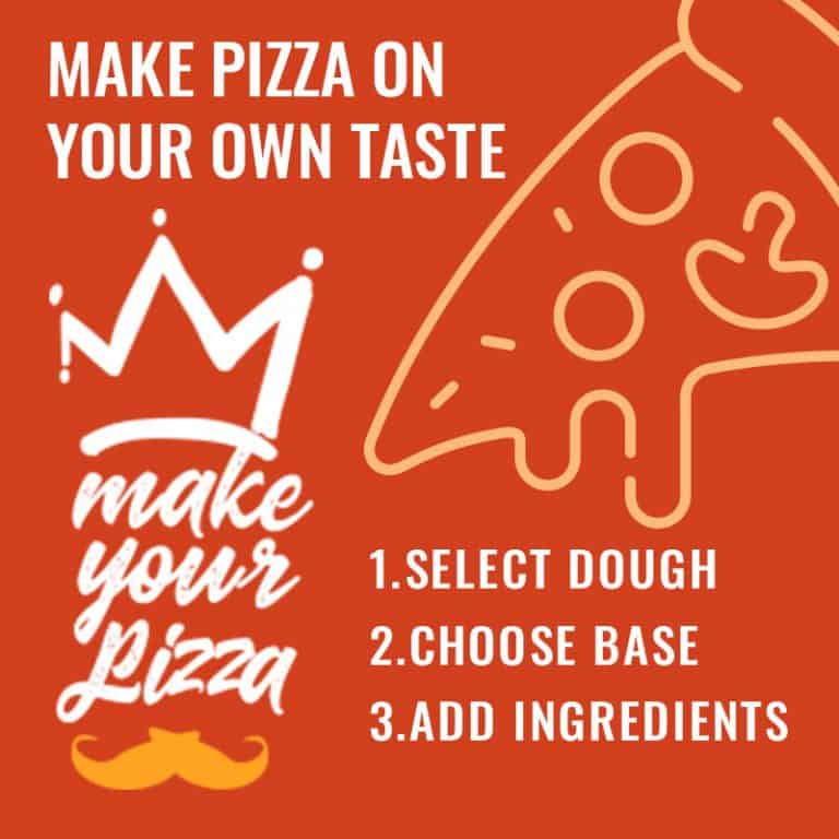 make your own pizza banner